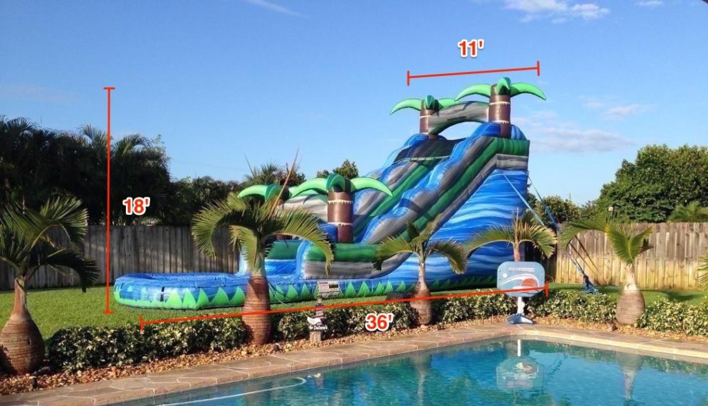 Larger Inflatables, Like Obstacle Courses Or Water Slides, Need A Little  More Space. Water Slides Are Usually 18 Feet Or Taller. Some Slides Have  Landing ...