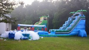 Look For Beach Themed Units Like The Tropical Titan Water Slide With A Splash Pool Or Backyard Obstacle Course Kids Wont Even Care That